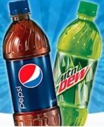 24 floz Bottled Soda ( Mt. Dew / Pepsi / Sweet Tea / Pure Life / Gold Peak )