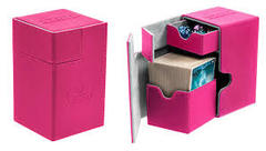 Ultimate Guard Flip'N'Tray Deck Case 100+ Standard Size Xenoskin Pink