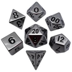 MDG Metal Polyhedral Dice Set: Silver