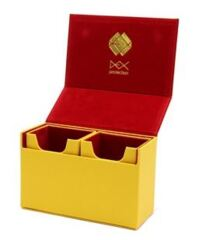 Dex Protection 120 Dualist Dual Compartment Deck Box: Yellow