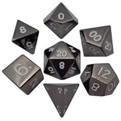 MDG Metal Polyhedral Dice Set: Sterling Gray