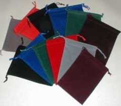 Chessex Velour - Felt Dice Bag (SMALL/Baby) 4 x 5 Black/Blue/Green/Grey/Maroon/Purple/Red