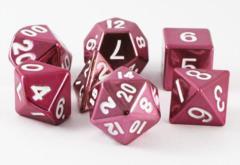 MDG Metal Polyhedral Dice Set: Pink