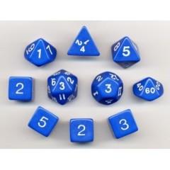Polyhedral Green/White Dice Set (10 pc) 150