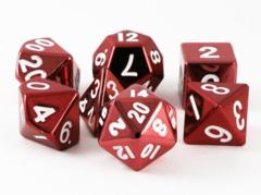 MDG Metal Polyhedral Dice Set: Red