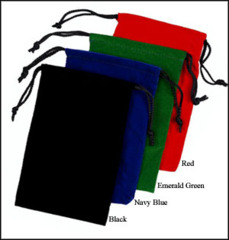 Chessex Velour - Felt Dice Bag (LARGE/Adult) 5 x 7 Black/Blue/Green/Grey/Maroon/Purple/Red