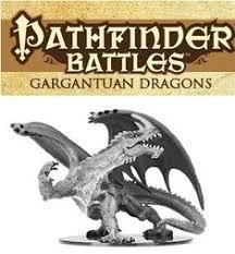Pathfinder Battles Deep Cuts Unpainted Minis - Gargantuan Green Dragon