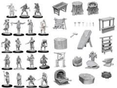 Pathfinder Battles Deep Cuts Unpainted Minis - Townspeople & Accessories