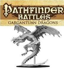 Pathfinder Battles Deep Cuts Unpainted Minis - Gargantuan White Dragon