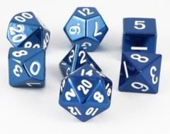 MDG Metal Polyhedral Dice Set: Blue