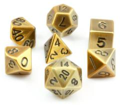 Metallic Roleplaying Dice Set Antique Gold 7ct