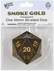 Smoke/Black & Gold Big/Large Spindown - Transparent 55mm D20 Countdown