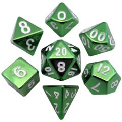 MDG Metal Polyhedral Dice Set: Green