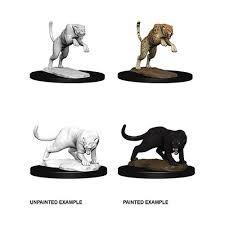 D&D Unpainted Minis - Panther & Leopard