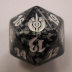 Magic Spindown D20 - Mirrodin Besieged - Black