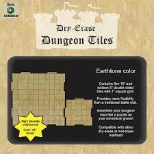 Dry Erase Dungeon Tiles - Earthstone Combo Pack of Five 10' and Sixteen 5' Interlocking Tiles