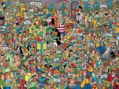Comic Crowds: Book Fair 750 Piece Jigsaw Puzzle