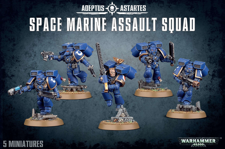 Adeptus Astartes Space Marine Assault Squad