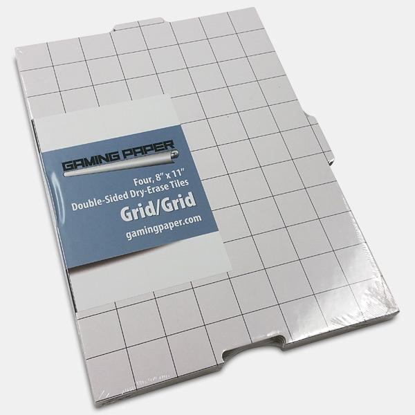 Set of 4 Gaming Paper Tiles 8×11 Grid/Grid