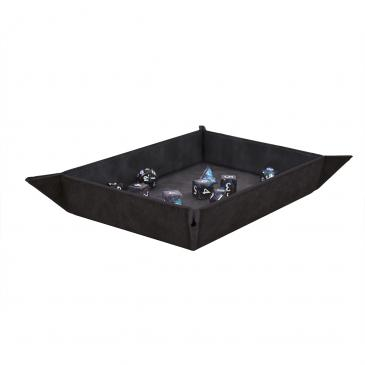 Suede Foldable Dice Tray - Jet