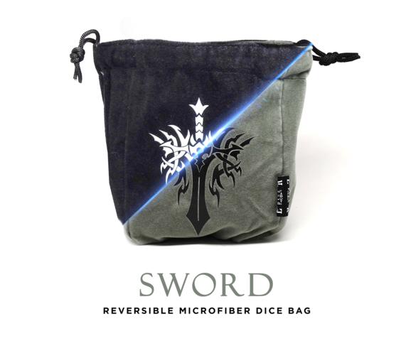 Sword Reversible Microfiber Self-Standing Large Dice Bag
