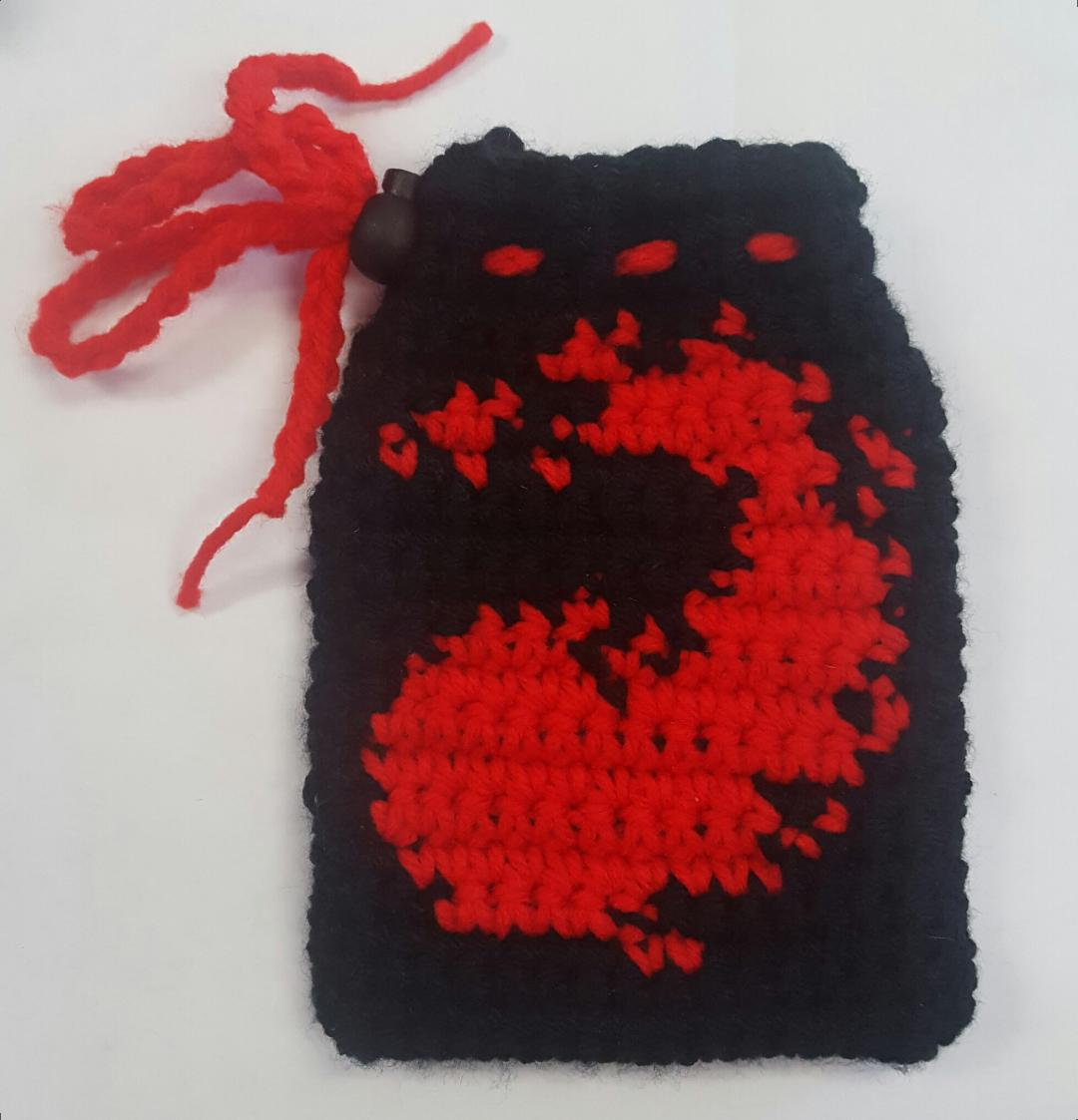 Resting Stitch Face - Mountain Dice Bag