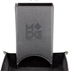Leather Fold Up Dice Tower - Black