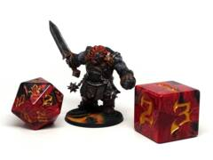 48mm Dice of the Giants - Fire Giant D20