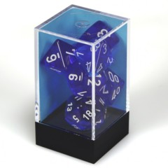 7 set Translucent Blue/White Polyhedral
