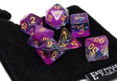 Frozen Purple with Stars - Gold Font - 7 Piece Set
