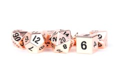 16mm Polyhedral Metal Dice Set - Copper