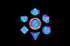 Mini Polyhedral Dice Set - Purplew/Teal