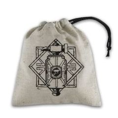 BASIC DICE BAG - DWARVEN BEIGE AND BLACK