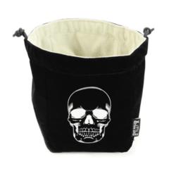 Reversible Skull Dice Bag - Black and White