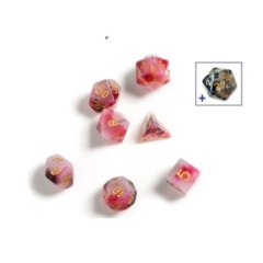 Dice Set - Pink, Black, and Red