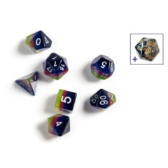 Dice Set - Pink, Blue, and Green