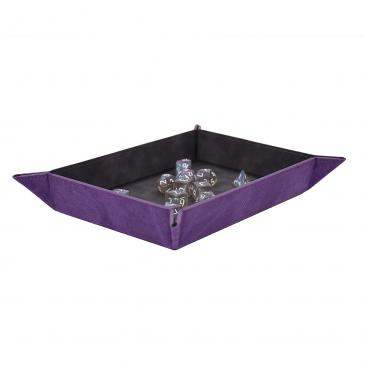 Suede Foldable Dice Tray - Amethyst