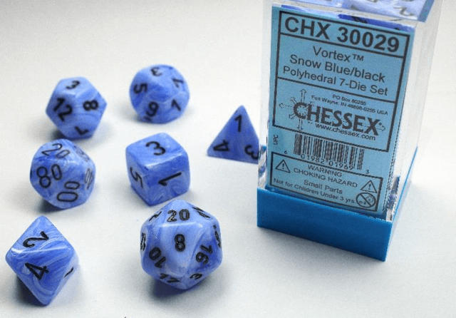 CHX 30029 - Show Blue/Black 7-Die Set