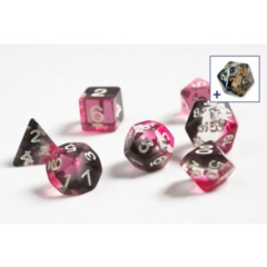 Dice Set - Pink, Clear, and Black