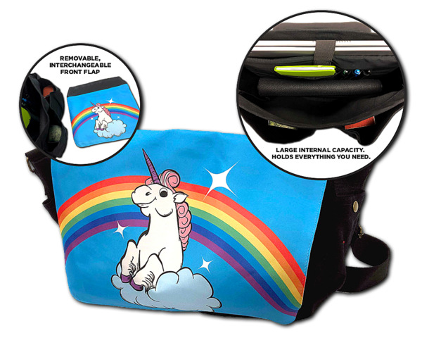 MESSENGER BAG - RAINBOW UNICORN