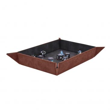 Suede Foldable Dice Tray - Ruby