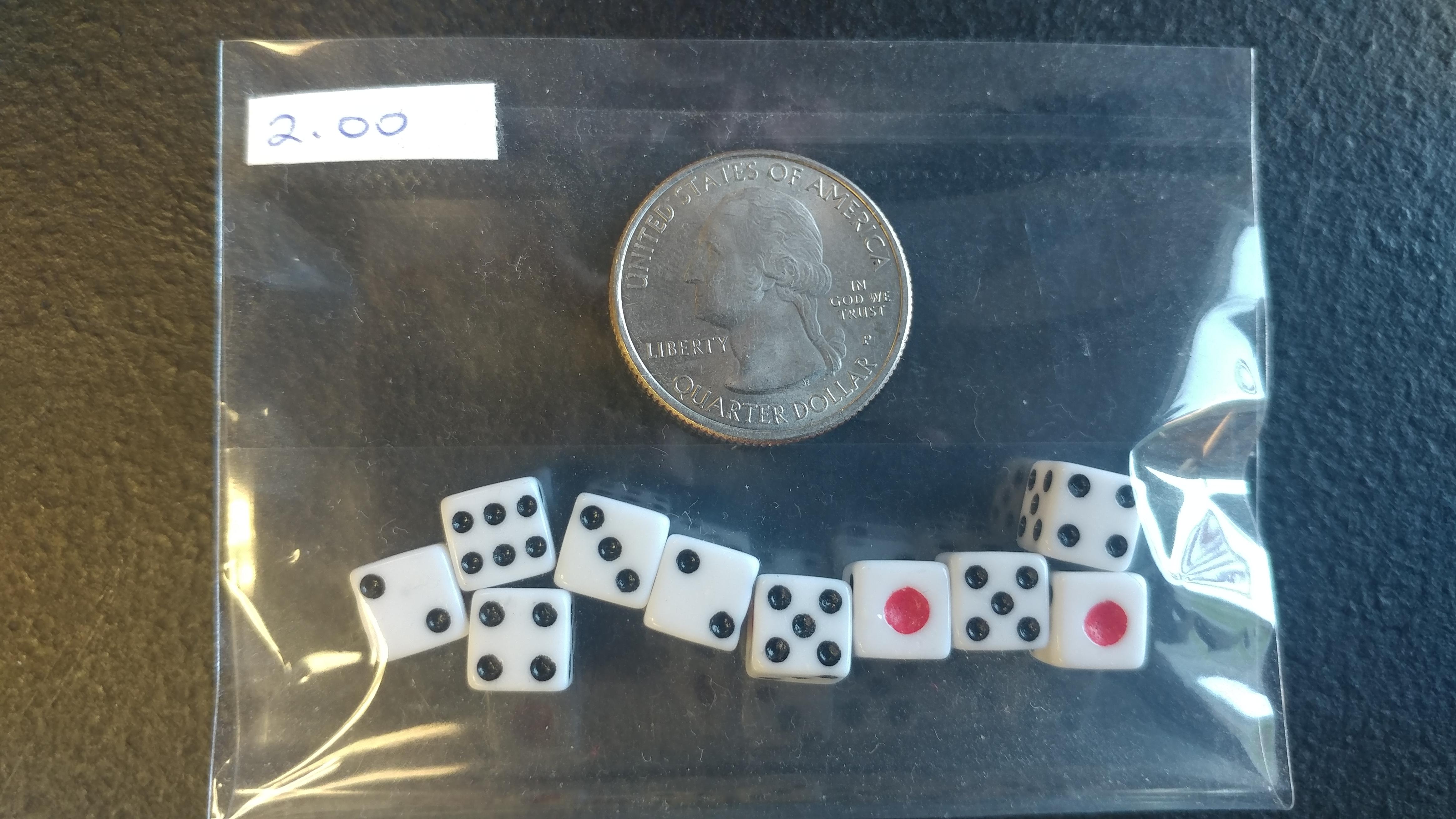 10 Count Tiny Dice
