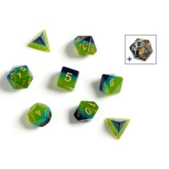 Dice Set - Green and Blue