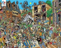 Comic Crowds: Ol' West 750 Piece Jigsaw Puzzle
