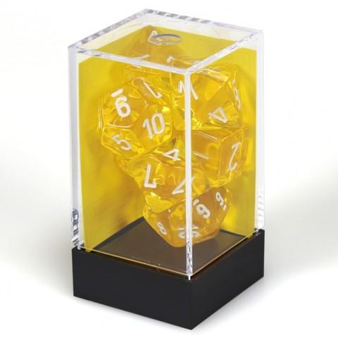 7 set Translucent Yellow/White Polyhedral