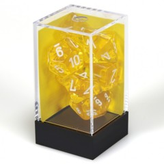 7 set Translucent Yellow/White Polyhedral