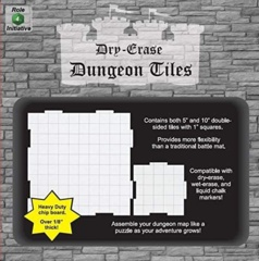 Dry Erase Dungeon Tiles: Combo Pack: 10'' (4) & 5'' (16)