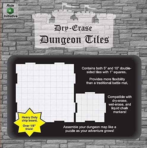 Dry Erase Dungeon Tiles: Combo Pack: 10 (4) & 5 (16)
