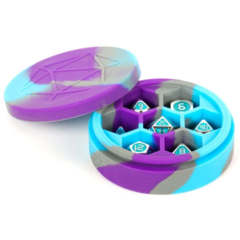Silicone Round Dice Case - Purple/Gray/Light Blue