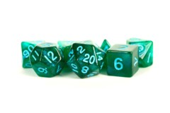 7 - Die Set 16mm Stardust:  Green w/ Blue Numbers